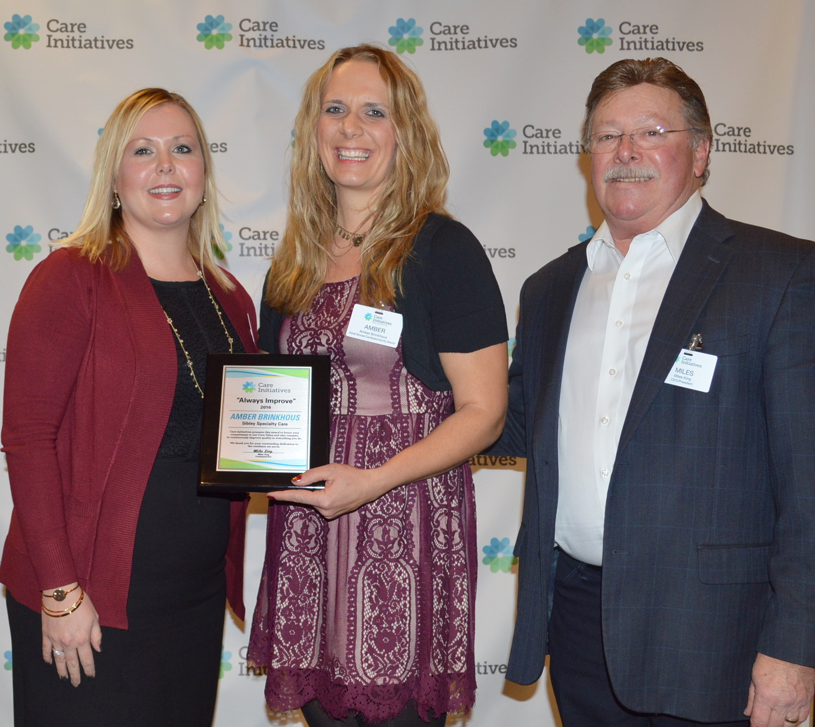 Sibley Specialty Care Always Improve award