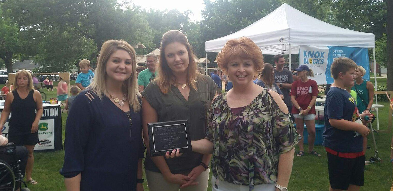 La Porte City Specialty Care Business of the Year award