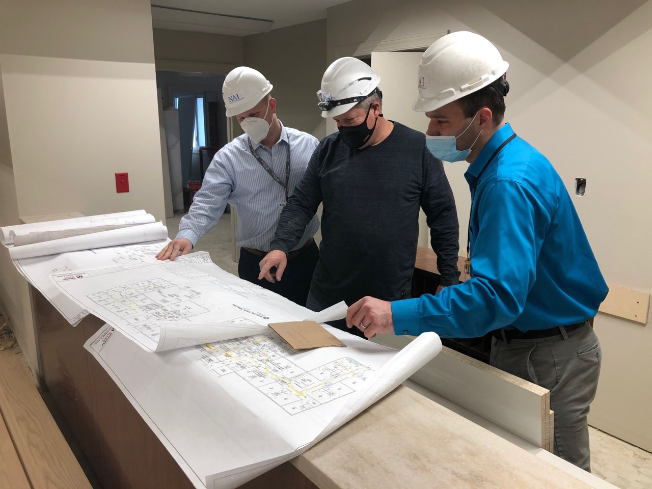 overlooking plans to rebuild Heritage Specialty Care after derecho