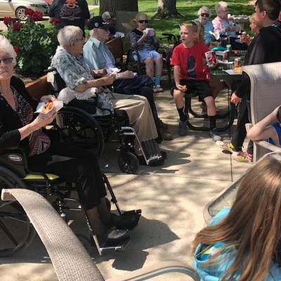 Cherokee adopt a grandparent picnic
