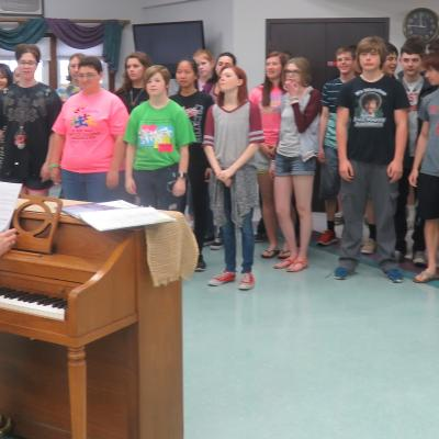 Creston High School choir 5.18