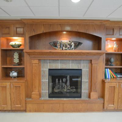 Northern Mahaska fireplace