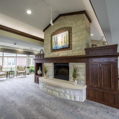 Pinnacle tour fireplace