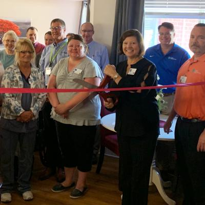 Greenfield hospice ribbon cutting